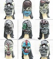 Wholesale Halloween Scary Party Mask Spirit Festival Skeleton Rubber Masks October Terror Masquerade Ghost Children Adult Cosplay H1635