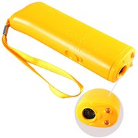 ad products - High Quality Mini Yellow AD Ultrasonic Dog Training Device Stop Bark Barking Repeller Trainer With LED Light