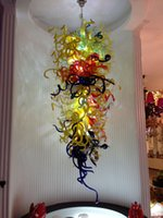 Wholesale New Arrival Modern Luxury K9 Crystal Chandelier Lighting Multi Colored Hand Blown Murano Glass Chandelier for Hotel Wedding Decoration