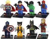 Wholesale NEW Marvel Super Heroes Avengers Minifigures Superman Batman Spider man X Men compatible Building Blocks H04