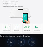 Wholesale 2016 Original YUNMAI MINI Smart Weighing Scale Support Android iOS7 Bluetooth4 Losing Weight Digital Scale Body Fat Scale