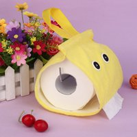 Wholesale New Cute Flannel Rolls Tissue Pumping Tube Tissue Storage Box pc Colors