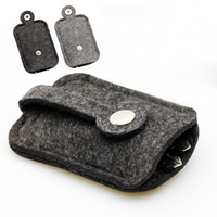 Wholesale New Men women Woolen Felt Car Key Holder Case Bag luxury Keychain Holder Bag Purse Case compact key holder