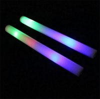 Wholesale multi color material foam stick foam glow stick christmas Electronic Concert Multicolor sponge stick flash stick free shipp