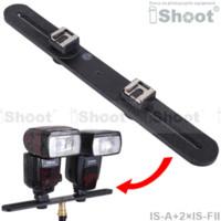 Sujetador de cámara Soporte de flash + Adaptador de montaje de zapata doble para 1/4 Studio Light Stand Adaptador de trípode para cargador de coche
