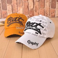 Wholesale Spring Hot Brand New Cotton Mens Hat Letter Bat Unisex Women Hats Baseball Cap Adult Snapback Casual Active Adustable Caps
