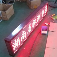 Wholesale best price indoor HD red color p4 F3 dot matrix led window moving sign CM cm