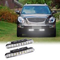 Wholesale 2pcs LEDs W Led Daylight Car Daytime Running Light DRL Lamp Waterproof Turn Signal Indicators V Car Fog Lamp K1867