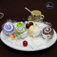 cake towel - 10pcs cm cm Mini Cake Towel Mix color candy Design Small Kerchief Towel Wedding gift Baby shower gift souvenirs