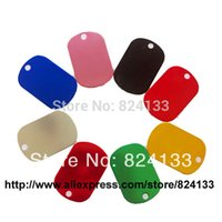 Wholesale 38 MM small military dog tags hot sale dog id tags for pets mixed colors