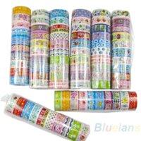 Wholesale 10 rolls set of kawaii lovely deco cartoon tape scrapbooking adhesive paper sticker PVC D2