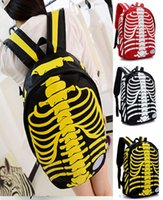 Wholesale 3pcs women backpack skull skeleton printing backpacks for teenage girls school bags eastpack knapsack mochila feminina HX