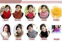 Wholesale 2015 Newest Style Fashion Women s Winter Warm Knitting Scarf Infinity Polyester Tassel Scarves Purl Scarf