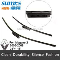 Wholesale framless wiper blade for Renault Megane soft rubber quot quot windshield wiper blade pair A5