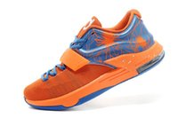 Cheap With Swoosh Tick New Kevin Durant KD 7 XII Basketball Shoes KD7 Sports Shoe Athletic Running shoes Orange Pink Color With Standout Midsole