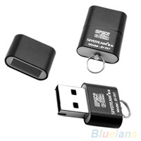 Wholesale Portable Mini USB Micro SD TF T Flash Memory Card Reader Adapter Flash Drive PNJ
