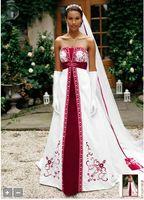 Wholesale Satin A Line dhgate Split Front and Color Inset plus size Style YP3066 Wedding Dresses Bridal Wedding Dress
