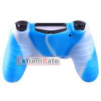 Free Shippingn Silicone caoutchouc en caoutchouc protecteur Housse Grip Cover pour Playstation 4 PS4 Controller blanc et bleu Mix Camo
