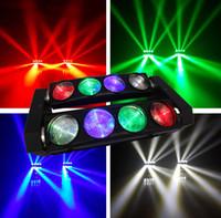RGBW 8x10W Quad 4in1 LED CREE déplacer Spider faisceau de la tête de la barre effet lumière disco conduit Livraison gratuite