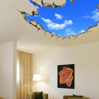 bedroom ceiling design - 70 CM D Stereoscopic Blue Sky Wall Paper New Fashion Ceiling Living Room Sofa Backdrop Wall Stickers Home Decor