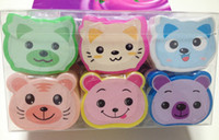 animal removals - Fashion package mix color cartoon animal UV Gel Nail Polish Remover Pads Gel Cleanser Nail Tools Gel Nail Removal Paper