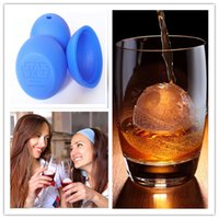Wholesale Death star wars Ice Mold DIY Round Cocktails Ball Death Star Wars Blue Silicone Sphere Mold bar tools D716L