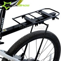 bicycle carrying rack - RockBros Disc Brake V brake Aluminum Rack Bike Bicycle Rear Rack Carry Carrier Seatpost Quick Release Max KG Black Silver