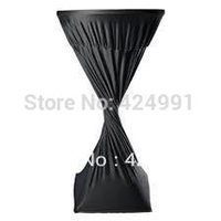 bar height tables chairs - Extra Large quot Round x quot Height Black Lycra dry bar cover Cocktail table cover for wedding event amp party