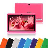 ¡Envío de DHL! IRULU Q88 Tablet PC de 7 pulgadas Allwinner A33 Quadcore Android 4.4 de doble cámara 8GB 512MB capacitiva de pantalla HD iRuLu Tabletas