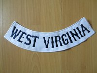 west virginia - Custom bottom rocker patches quot WEST VIRGINIA quot Sons of Anarchy Embroidery Twill Biker Patches for Jacket Motorcycle Club MC
