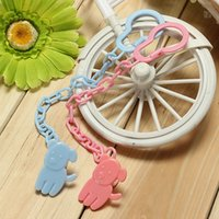 Wholesale 3 Colors Hot Sale Top Baby Dummy Pacifier Soother Nipple Chain Clip Buckle Holder Toddler Toy Tool