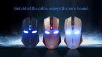 Wholesale Newest Iron Man Mouse Wireless Mute Silent Gaming Mouse Wireless g