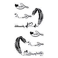 armband tatoo - Free ship HM526 stickers tatoo armband neck Back elbow kyte Love Feather waterproof body art temporary fake tattooed CE