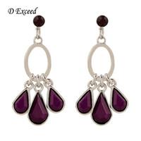 american plastic cups - Solid Purple Stud Cup Earrings Cheap Chandelier Earrings For Women Teardrop Pendant Earrings Studs Latest New Design ER140062