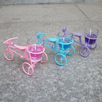 Wholesale bicycle type jelly candles candlestick creative wedding gift boutique jewelry shop supply
