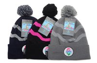 Wholesale 2013 newest hot sale pink dolphin beanie hats with pom for men and women sports hip hop cap mens winter street headwear cheap
