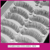 best fake eyelashes - New Pairs Box Hot High Quality Taiwan Style Japanese CrissCross Devil Ultra Realistic Fake Eyelashes to Fashion Make Up Best Sale