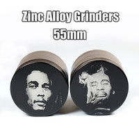 best magnets - 55mm Grinders Bob Marley Grinders Zinc Alloy Grinder Best Quality Herbal Crusher Layers Sharpstone Grinders Magnet Cover E Cigarettes