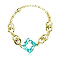 Wholesale New Fashion Hot Austrian Crystal Gold plating Bracelet lady delicate jewerly accessories quality first