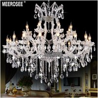 Wholesale 24 Lights Massive White Chandeliers Crystal Clear Vintage chrystal chandelier Hotel Lighting Pendelleuchte lamp for Home decor