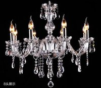 Wholesale free ship Wooden packaging Noble Luxurious Export K9 Clear Crystal Chandelier Arms Optional Lustres De Cristal droplight