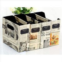 bamboo desk organizer - 2014 New ME Convenient DIY Paper Newspaper Storage Box Eco Friendly Desk Decor Cosmetic Organizer EM