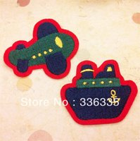 Same as picture airplane badge - new arrival mixed cartoon ship and airplane embroidered Iron On Patches badge Appliques diy accessory