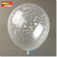 Wholesale hot sell inch star printed clear transparent wedding and birthday party decoration balloons supplies latex helium Balloon