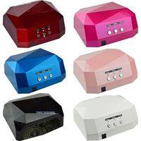 Wholesale Nail Dryers CCFL W LED Light Nail Dryer Diamond Shaped Best Curing Nail Art Lamp Care Machine for UV Gel Nail Polish EU Plug