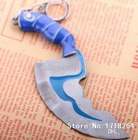 antique dagger - Online jewelry dota2 dagger key chain Dota fashion Jewelry flashing game Mini Kelen s dagger keychain man s game jewelry