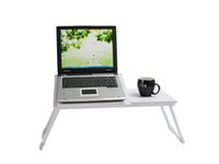 Wholesale White Portable Laptop Desk Folding Laptop Table Stand Computer Notebook Desk Bed Tray