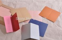 Wholesale DIY folding card blank colored cards message card CM