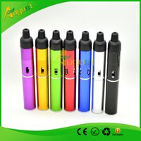 Wholesale click n vape Herbal portable Vaporizer smoking metal pipes sneak A Vape with built in Wind Proof Torch Lighter