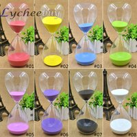 Wholesale 8 Colors Minutes Glass Sand Egg Cooking Timer Clock Hourglass Home Decor